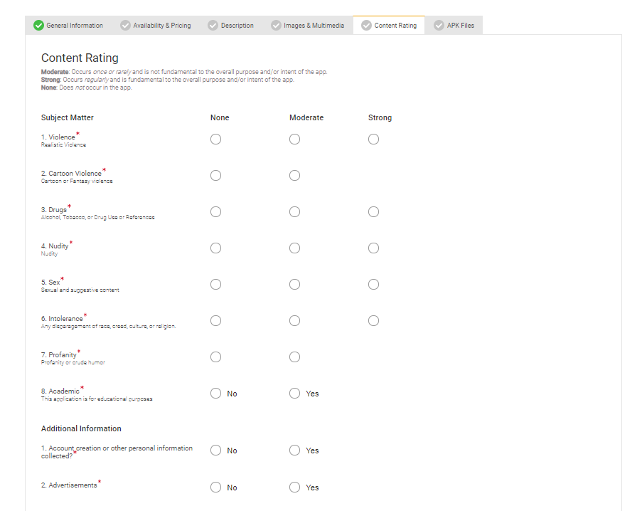 Content-rating-usage-for-Amazon-app-store-submission
